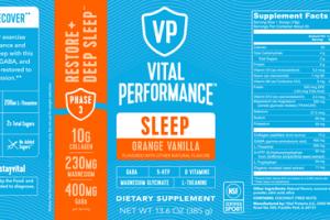 SLEEP DIETARY SUPPLEMENT ORANGE VANILLA