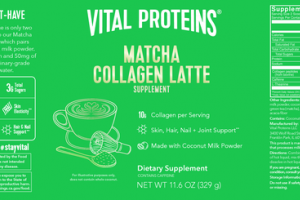 COLLAGEN LATTE SKIN, HAIR, NAIL + JOINT SUPPORT DIETARY SUPPLEMENT MATCHA
