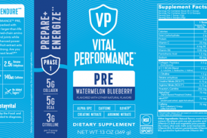 PRE PREPARE+ ENERGIZE DIETARY SUPPLEMENT WATERMELON BLUEBERRY