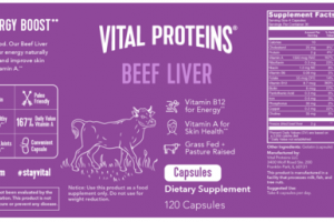 BEEF LIVER DIETARY SUPPLEMENT CAPSULES
