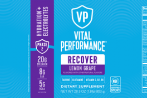 RECOVER HYDRATION + ELECTROLYTES DIETARY SUPPLEMENT LEMON GRAPE
