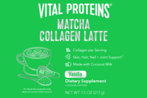 MATCHA COLLAGEN LATTE SKIN, HAIR, NAIL + JOINT SUPPORT DIETARY SUPPLEMENT VANILLA