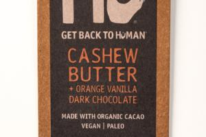 CASHEW BUTTER + ORANGE VANILLA 70% CACAO DARK CHOCOLATE