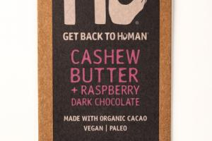 CASHEW BUTTER + RASPBERRY 70% CACAO DARK CHOCOLATE