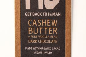 CASHEW BUTTER + PURE VANILLA BEAN 70% CACAO DARK CHOCOLATE