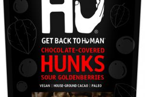 SOUR GOLDENBERRIES 70% CACAO CHOCOLATE-COVERED HUNKS