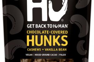 CASHEWS + VANILLA BEAN 70% CACAO CHOCOLATE-COVERED HUNKS