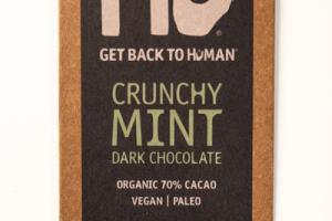 CRUNCHY MINT 70% CACAO DARK CHOCOLATE
