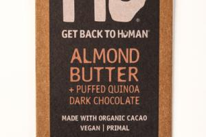 ALMOND BUTTER + PUFFED QUINOA 70% CACAO DARK CHOCOLATE