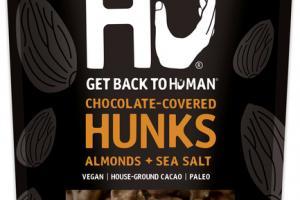 ALMONDS + SEA SALT 70% CACAO CHOCOLATE-COVERED HUNKS