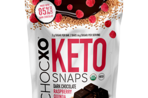 ORGANIC DARK CHOCOLATE RASPBERRY QUINOA CRUNCH KETO SNAPS