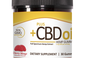 FULL SPECTRUM HEMP EXTRACT 5 MG CBD DIETARY SUPPLEMENT GUMMIES CHERRY MANGO