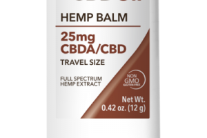 25MG CBDA/CBD TRAVEL SIZE FULL SPECTRUM HEMP EXTRACT BALM