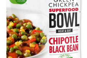 CHIPOTLE BLACK BEAN GREEN CHICKPEA SUPERFOOD BOWL