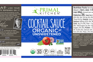 ORGANIC AND UNSWEETENED COCKTAIL SAUCE
