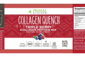 COLLAGEN QUENCH TRIPLE BERRY COLLAGEN PEPTIDE MIX DIETARY SUPPLEMENT