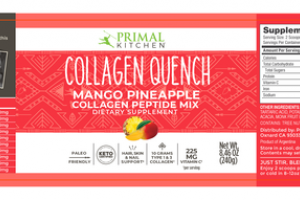 COLLAGEN QUENCH MANGO PINEAPPLE COLLAGEN PEPTIDE MIX DIETARY SUPPLEMENT