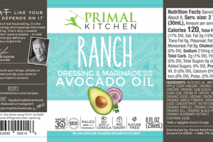 RANCH DRESSING & MARINADE MADE WITH AVOCADO OIL