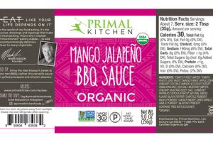 MANGO JALAPENO ORGANIC BBQ SAUCE