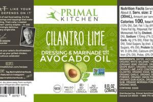 CILANTRO LIME DRESSING & MARINADE AVOCADO OIL