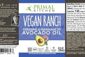 VEGAN RANCH AVOCADO OIL DRESSING & MARINADE