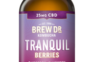 TRANQUIL BERRIES RASPBERRY BLUEBERRY WITH HEMP EXTRACT KOMBUCHA