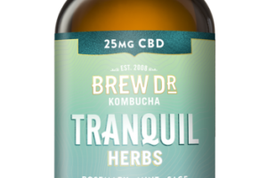 TRANQUIL HERBS ROSEMARY MINT SAGE WITH HEMP EXTRACT KOMBUCHA