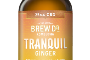 TRANQUIL GINGER PERUVIAN GINGER LEMON WITH HEMP EXTRACT KOMBUCHA