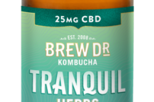 TRANQUIL HERBS ROSEMARY MINT SAGE WITH HEMP EXTRACT 25 MG CBD KOMBUCHA