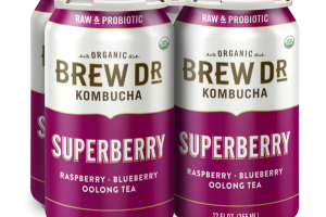 SUPERBERRY, RASPBERRY, BLUEBERRY OOLONG TEA KOMBUCHA