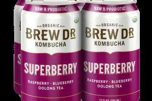 SUPERBERRY, RASPBERRY, BLUEBERRY OOLONG TEA KOMBUCHA