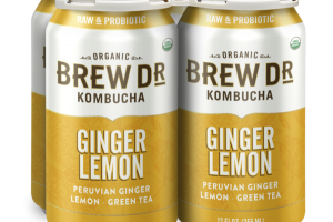 PERUVIAN GINGER LEMON, GREEN TEA KOMBUCHA