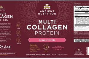 MULTI COLLAGEN PROTEIN BEAUTY WITHIN WHOLE FOOD DIETARY SUPPLEMENT GUAVA PASSIONFRUIT
