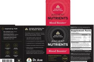 ANCIENT NUTRIENTS BLOOD BOOSTER WHOLE FOOD DIETARY SUPPLEMENT CAPSULES