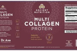MULTI COLLAGEN PROTEIN SUPPORTS: HEALTHY SKIN, NAILS AND JOINTS WHOLE FOOD DIETARY SUPPLEMENT