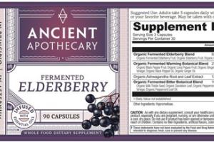 WHOLE FOOD DIETARY SUPPLEMENT CAPSULES FERMENTED ELDERBERRY