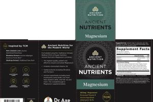 MAGNESIUM 300MG WHOLE FOOD DIETARY SUPPLEMENT CAPSULES