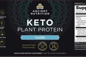 KETO PLANT PROTEIN WHOLE FOOD DIETARY SUPPLEMENT VANILLA