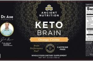 KETO BRAIN WHOLE FOOD DIETARY SUPPLEMENT ORANGE CREME