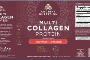 MULTI COLLAGEN PROTEIN WHOLE FOOD DIETARY SUPPLEMENT STRAWBERRY LEMONADE