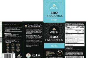 SBO PROBIOTICS MEN'S WHOLE FOOD DIETARY SUPPLEMENT CAPSULES