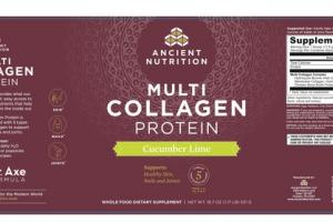 MULTI COLLAGEN PROTEIN CUCUMBER LIME WHOLE FOOD DIETARY SUPPLEMENT