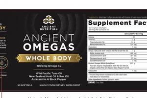 ANCIENT OMEGAS WHOLE BODY 1000MG OMEGA 3S WHOLE FOOD DIETARY SUPPLEMENT SOFTGELS