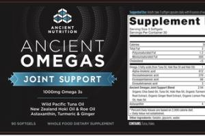 ANCIENT OMEGAS JOINT SUPPORT 1000MG OMEGA 3S WHOLE FOOD DIETARY SUPPLEMENT SOFTGELS