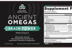ANCIENT BRAIN POWER 1000MG OMEGA 3S WHOLE FOOD DIETARY SUPPLEMENT SOFTGELS