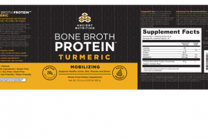 BONE BROTH PROTEIN TURMERIC MOBILIZING SUPPORTS HEALTHY JOINTS, SKIN, MUSCLES AND DETOX WHOLE FOOD DIETARY SUPPLEMENT