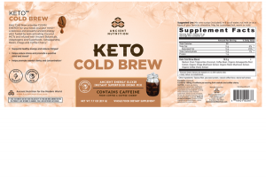 KETO COLD BREW ANCIENT ENERGY ELIXIR INSTANT SUPERFOOD DRINK MIX WHOLE FOOD DIETARY SUPPLEMENT