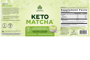 ANCIENT ENERGY ELIXIR INSTANT SUPERFOOD DRINK MIX WHOLE FOOD DIETARY SUPPLEMENT KETO MATCHA