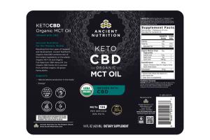 KETO CBD ORGANIC MCT OIL DIETARY SUPPLEMENT