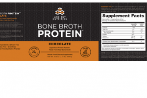 CHOCOLATE BONE BROTH PROTEIN SUPERFOOD PROTEIN POWDER WHOLE FOOD DIETARY SUPPLEMENT